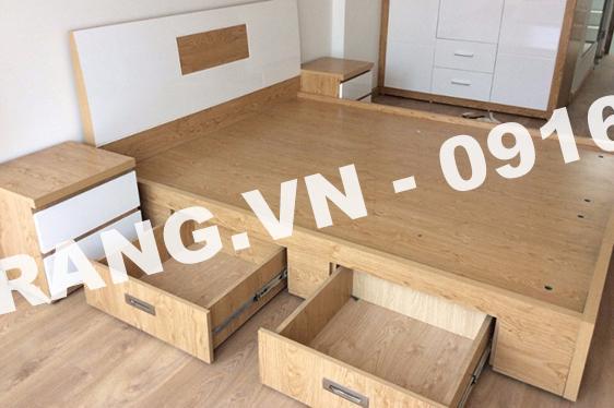 Giường ngủ đa năng bằng gỗ tự nhiên